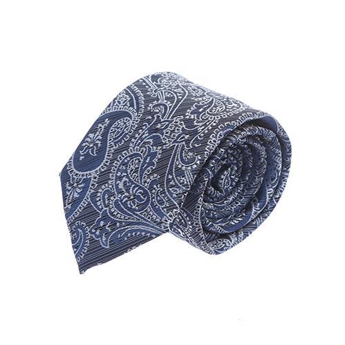 עניבה פייזלי כחול אפור