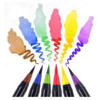סט טושים בצבעים שונים על בסיס מים