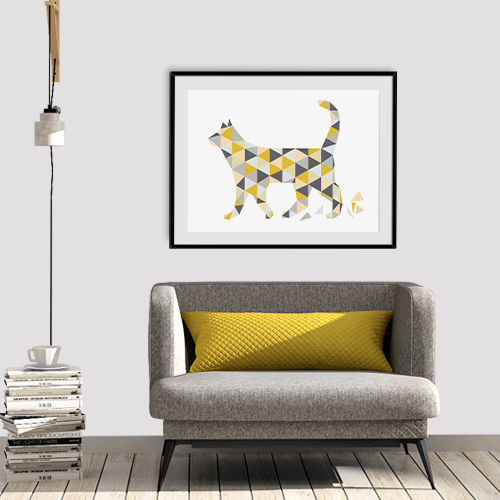 הדפס the walking cat
