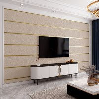 """טפטים מהממים לקיר נגד מים וחום! - דגם טקלין עם פסי זהב - בגודל של 10 מטר * 50 ס""""מ"""