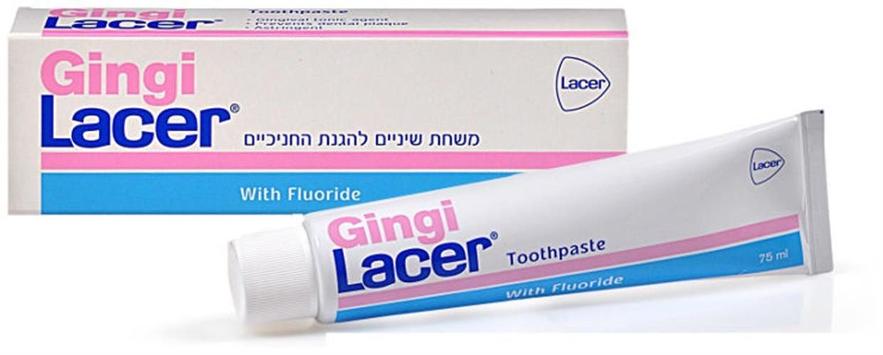 משחת שיניים עם פלואוריד להגנת חניכיים 75 מל Gingi lacer