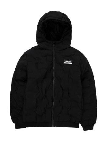 מעיל FILA שחור לוגו סיליקון