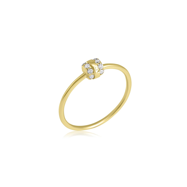 טבעת צ'ארם זהב יהלומים 0.09 קראט