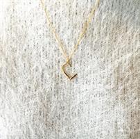 שרשרת לב חדש זהב