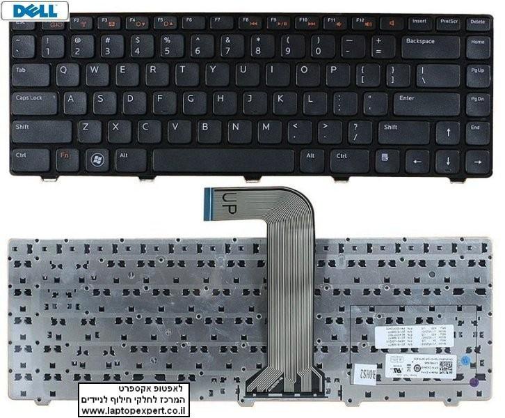 החלפת מקלדת למחשב נייד דל Dell Inspiron 15R 3520 5520 7520 Series US Layout Black 0X38K3