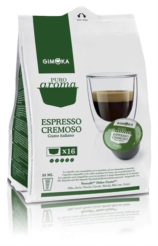 16 קפסולות איטלקיות תואמות דולצה גוסטו Gimoka Espresso Cremoso Dolce Gusto