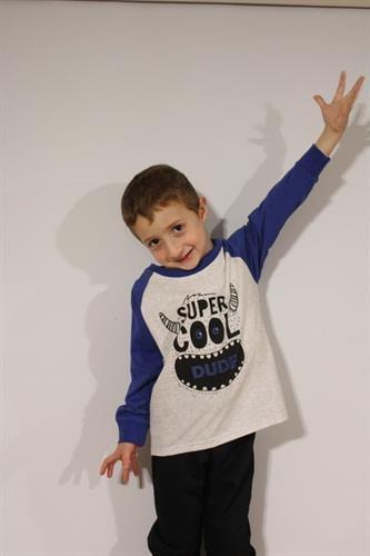 חליפה לילד לייקרה - SUPER COOL DUDE - מידות 2,4,6,8