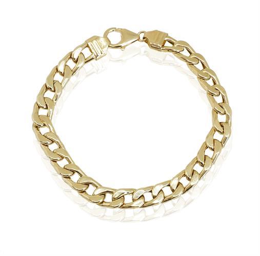 צמיד זהב לגבר │ צמיד חוליות איטלקי לגבר │ צמידי גברים מזהב אמיתי 14 קאראט
