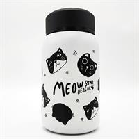 """בקבוק שתייה מנירוסטה 350 מ""""ל דגם חתולים"""