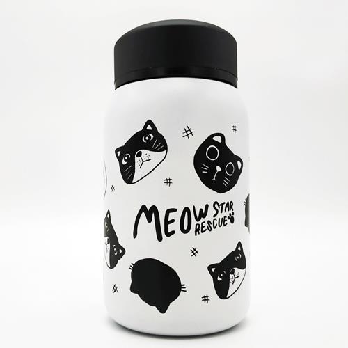 בקבוק שתייה מנירוסטה 350 מל דגם חתולים