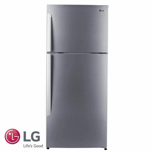 LG מקרר מקפיא עליון 381 ליטר דגם: GR-B440INVS גוון נירוסטה