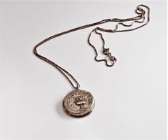 שרשרת עם תליון של מטבע שקל קדום- דגם 2
