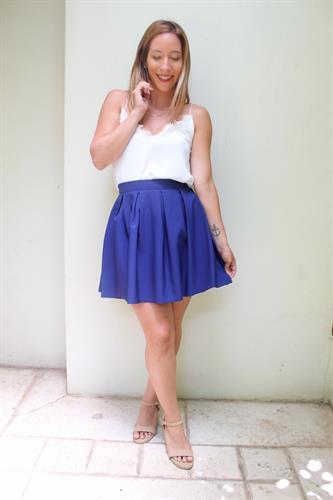 חצאית קלוש מוני כחולה
