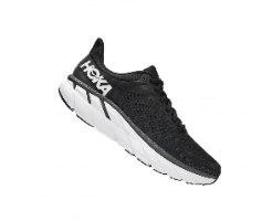 נעלי ריצה לגברים HOKA CLIFTON 7 WIDE בצבע שחור/לבן