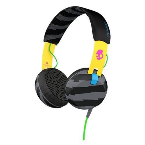 אוזניות קשת עם מיקרופון Skullcandy GRIND Yellow/Black