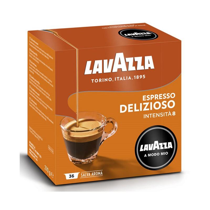36 קפסולות קפה LAVAZZA A MODO MIO אורגינל תערובת DELIZIOSO- כתום