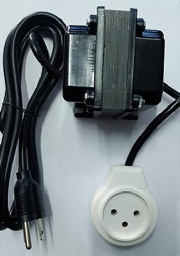"""שנאי מעלה מתח 110V ל 220V 65W לשימוש בחו""""ל במתח 110V"""
