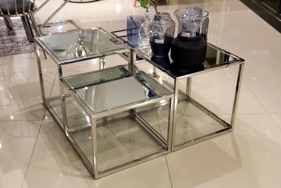 שולחן נירוסטה 4 קוביות