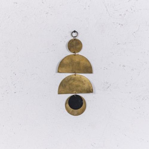 קישוט מתכת לקיר - 3 קשתות (זהב)