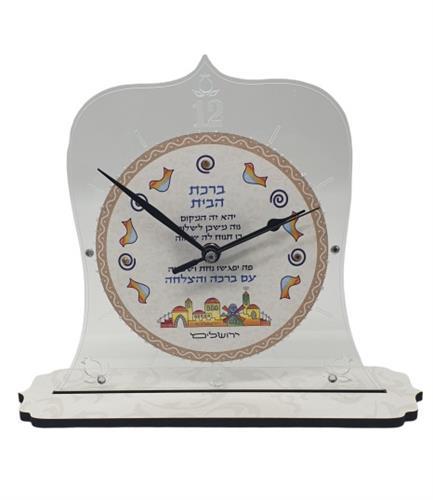 שעון ברכת הבית  בצורת פעמון על סטנד