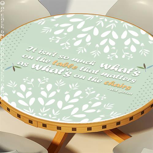 מפת שולחן פיויסי דקורטיבית- עלי טורכיז ל-שולחנות מעוצבים