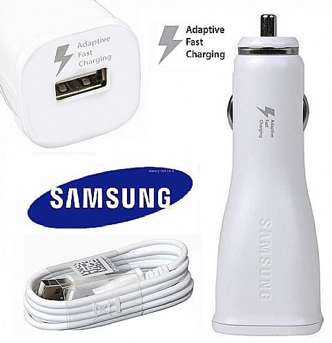 מטען רכב מהיר מקורי לסמסונג גלקסי + כבל מיקרו USB עוצמה Samsung Adaptive Fast Charger - 15W