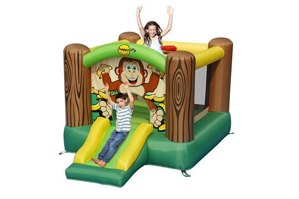 מתקן קפיצה מגלשת הגורילה וחישוק הפי הופ - 9201G - Gorilla Slide And Hoop Bouncer Happy Hop