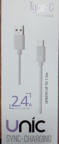 כבל USB TYPE C באורך 1.5 מ' טעינה מהירה 2.4a