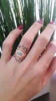 טבעת עין גדולה רוזגולד