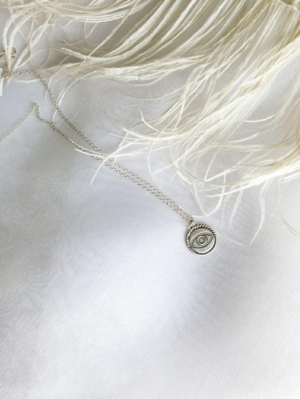 שרשרת מטבע עין- כסף 925