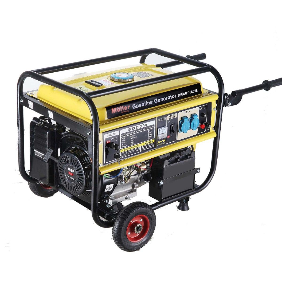 גנרטור מנוע בנזין  5000W התנעה חשמלית חד-פאזי
