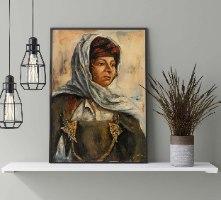 אישה בלבוש מסורתי (מתוך סדרת מסע שורשים לתוניס )