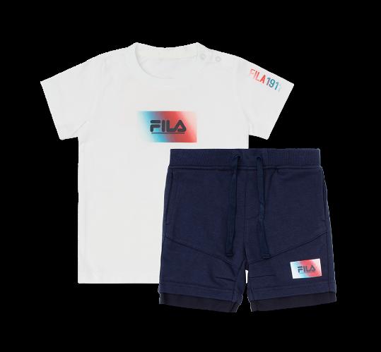 חליפת לוגו טאי דאי לבנה FILA - תינוקות בנים