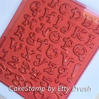 Crazy English letters set  2 cm high