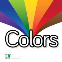 כרטיסיות צבעים באנגלית | Colors Cards