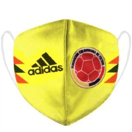 מסכת בד לפנים קולומביה צהובה