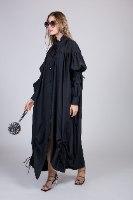 שמלת משי מקסי שילוב כיווץ NEW2021
