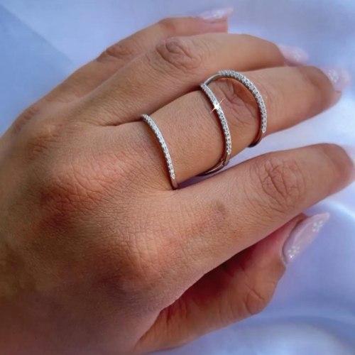 טבעת ספירלה דולי - כסף 925