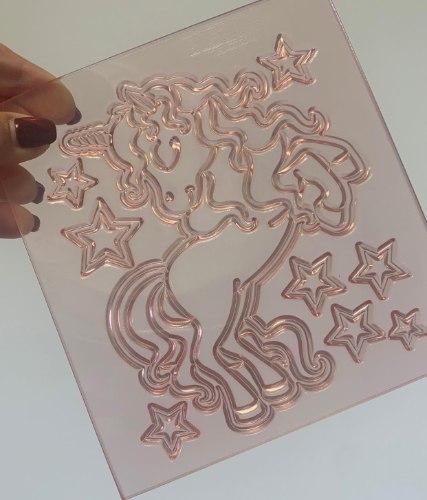 תבנית גדולה חד קרן וכוכבים יוניקורן | חד קרן גדול ליצירה בשוקולד | חד קרן לקישוט עוגות יום הולדת