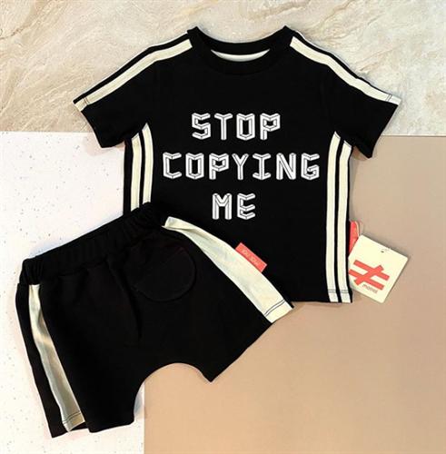 חליפת STOP COPING ME שחורה