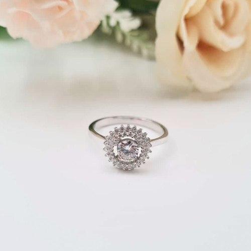 טבעת שמש מכסף 925