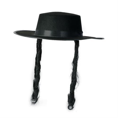 כובע חסיד פאותלך שחור