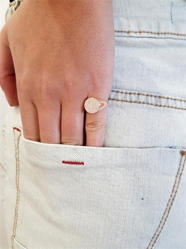 טבעת חותם לזרת