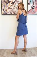 שמלת שכבות כחולה