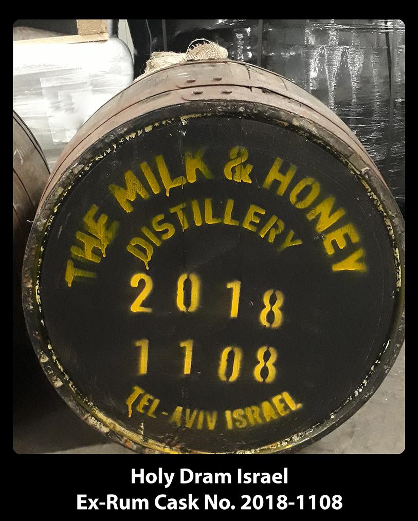 בקבוק בחבית Ex-Jamaican Rum משותפת ממזקקת מילק & האני