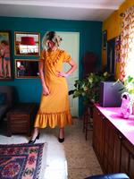 שמלת מקסי צהובה לתפארת מידה M/L
