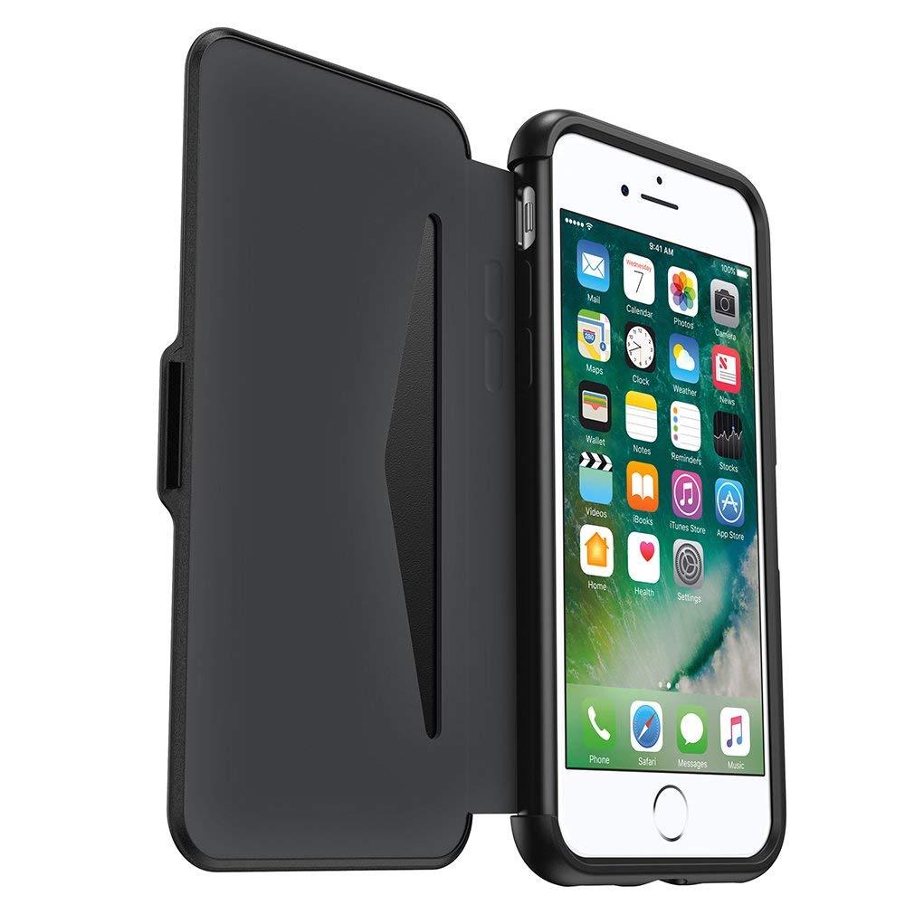 מגן דו צדדי לאייפון 7 אוטרבוקס Otterbox Symmetry Case Etui Folio for iPhone 7 Black