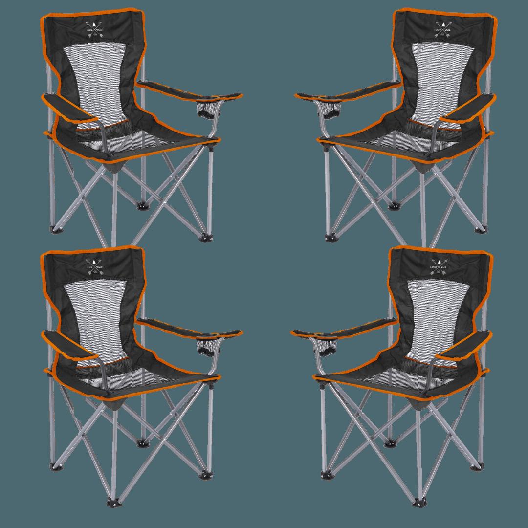 סט 4 כסאות קמפינג SAFARI