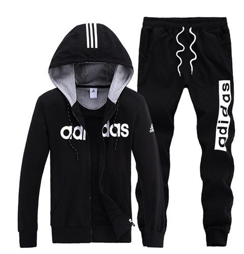 חליפת  Adidas כותנה שרוול ארוך מכנס וקפוצון לגברים