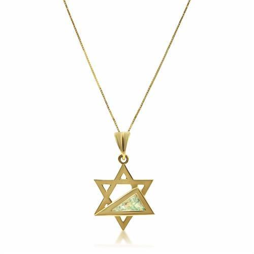 שרשרת מגן דוד מעוצבת עם זכוכית רומי